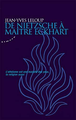 9782351181805: De Nietzsche à maître Eckhart