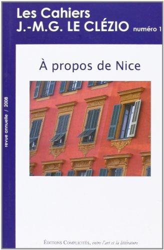 9782351200087: Cahiers j.-m.g. le clezio (les), a propos de nice: 1