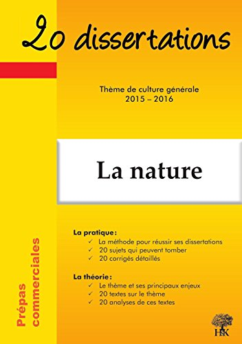9782351413173: 20 dissertations sur la nature
