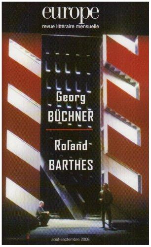 9782351500187: Europe Georg Buchner/Roland Barthes 952/953 (French Edition)