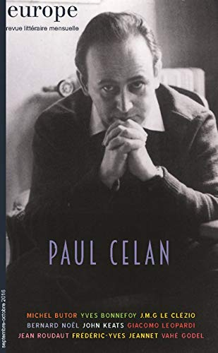 9782351500828: Paul Celan Revue Europe N 1049-1050