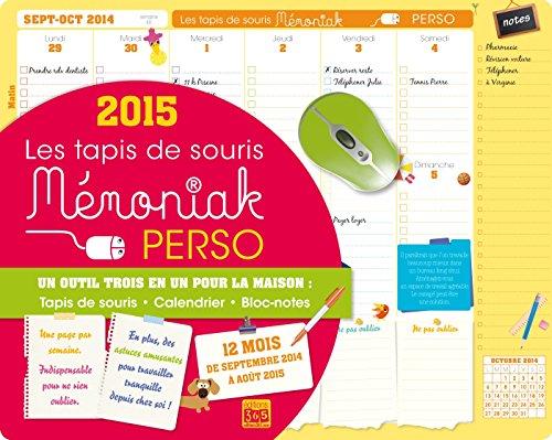 9782351555699: TAPIS DE SOURIS MEMONIAK PERSO 2014-2015