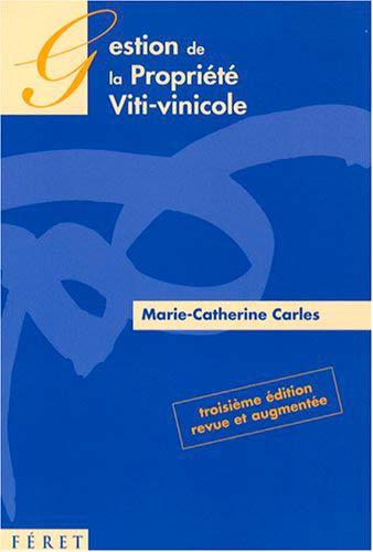 9782351560143: Gestion de la propriété viti-vinicole
