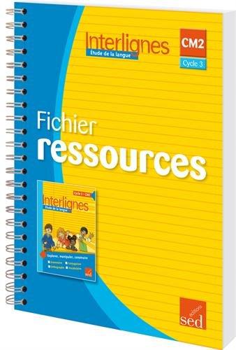 9782352477792: Etude de la langue CM2 Interlignes : Fichier ressources