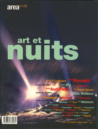 Area N 13 Art et Nuits (French Edition): Collectif