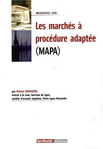 9782352954637: Les marchés à procédure adaptée (MAPA)