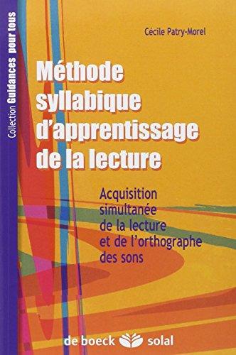 METHODE SYLLABIQUE D APPRENTISSAGE DE L: PATRY MOREL