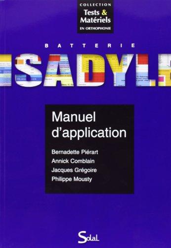 9782353270866: Ensemble isadyle manuels - batterie (Tests & matériels en orthophonie)
