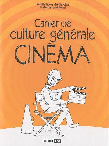 9782353553624: Cahier de culture g�n�rale Cin�ma
