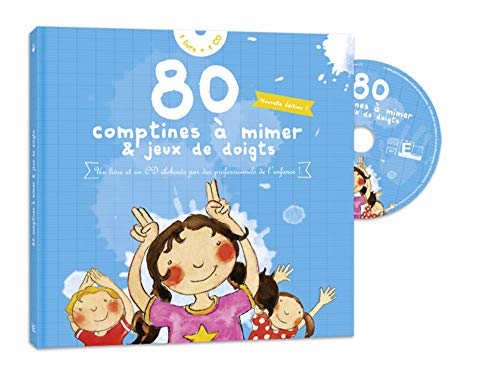 9782353660025: 80 Comptines a mimer & jeux de doigts (1CD audio) (French Edition)