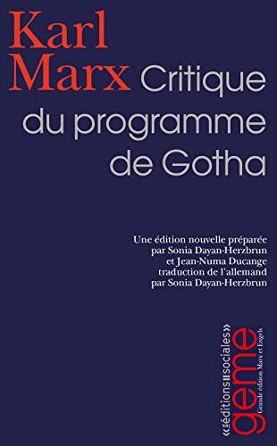 9782353670017: Critique du programme de Gotha (French Edition)
