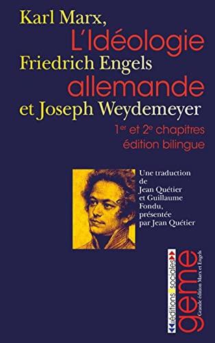 9782353670178: L'idéologie allemande : Premier et deuxième chapitres (Les Poches)