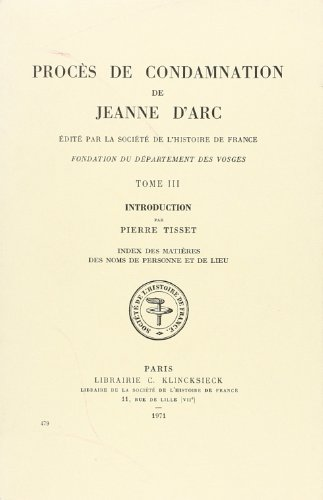 9782354070878: Proces De Condamnation De Jeanne D'arc: Introduction