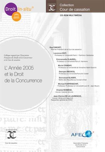 9782354410391: L'Année 2005 et le Droit de la Concurrence