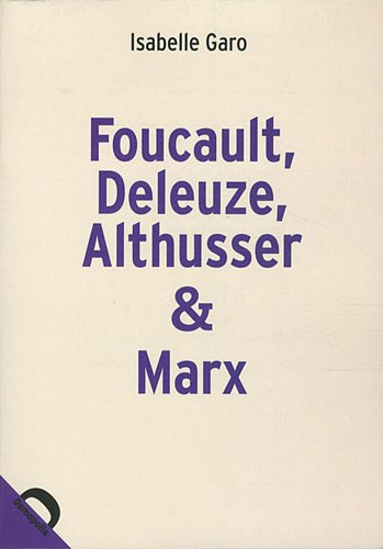 9782354570422: Foucault, Deleuze, Althusser & Marx (French Edition)