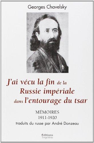 9782354780265: Mémoires du dernier aumônier général des armées russes