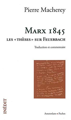9782354800154: Marx 1845 (French Edition)