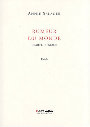 Rumeur du monde (French Edition) (2355130035) by [???]