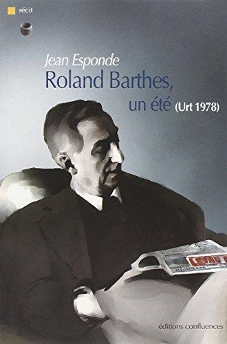 9782355270185: Roland Barthes, un été (Urt 1978)