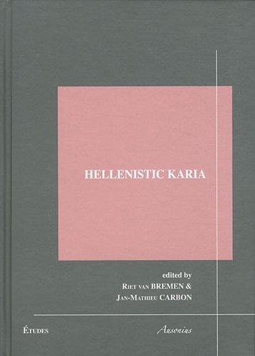 9782356130365: Hellenistic Karia