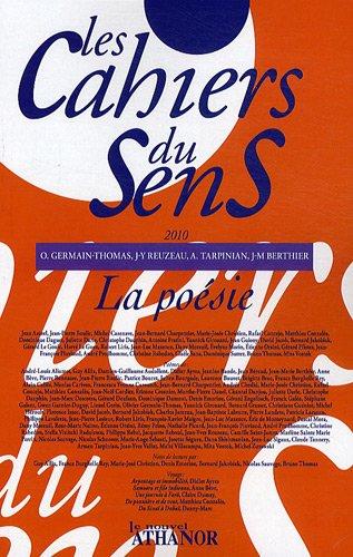 9782356230171: Les cahiers du sens, N° 20/2010 : La poésie