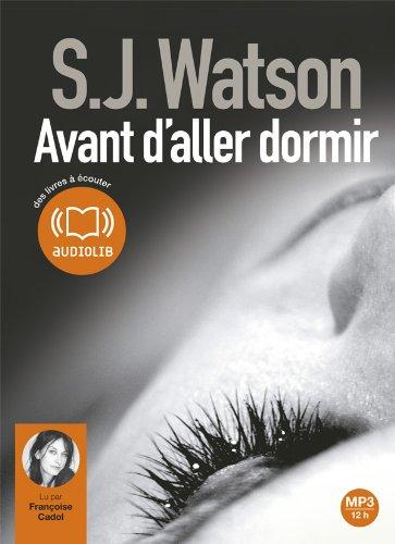 9782356414342: Avant d'aller dormir: Livre audio 1CD MP3 - 644 Mo (Suspense)
