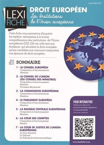 9782356441027: Droit européen : Les institutions de l'Union européenne
