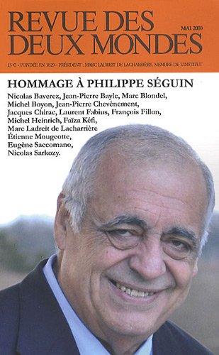 9782356500267: Revue des deux Mondes, Mai 2010 : Hommage à Philippe Séguin