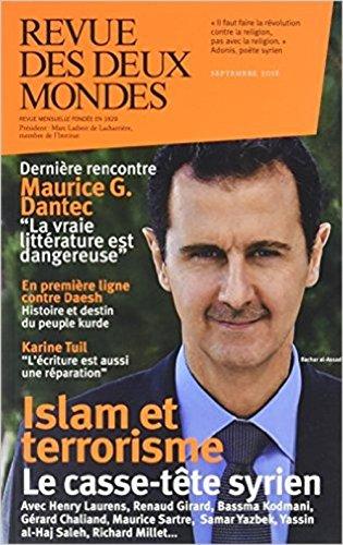 Revue des deux mondes, septembre 2016: Collectif