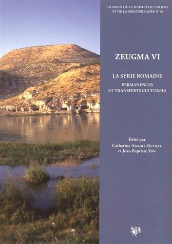 9782356680495: Zeugma : Volume 6, La Syrie romaine : permanences et transferts culturels