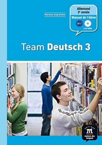 9782356850348: Allemand 3e année Palier 2 Team Deutsch 3 (1CD audio)