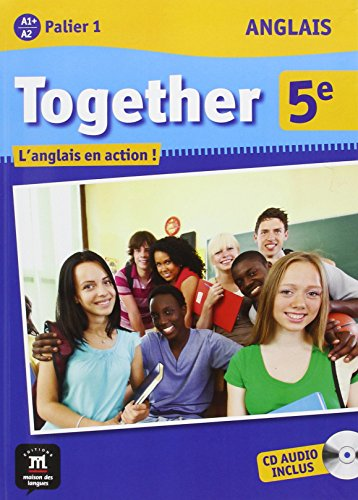 9782356851192: Anglais 5e Together A1+/A2 Palier 1 : L'anglais en action ! (1CD audio)