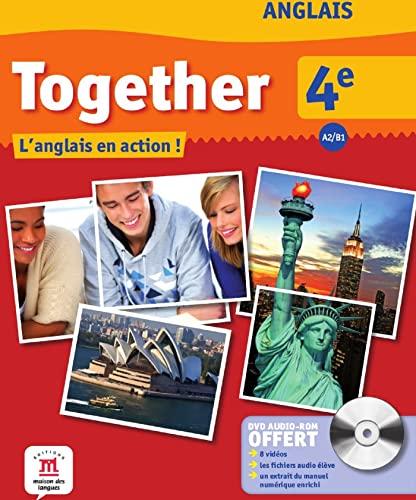 9782356851796: Anglais 4e A2/B1 Together : L'anglais en action ! (1DVD)