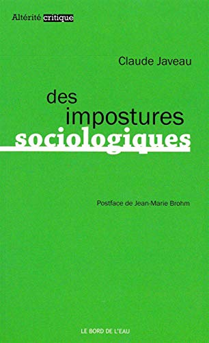 9782356872944: Des impostures sociologiques