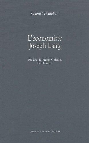 L'economiste Joseph Lang: Poulation Gabriel