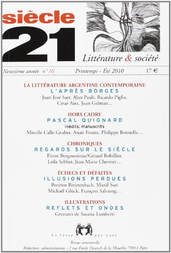 9782357070127: Revue siecle 21 n16 (French Edition)