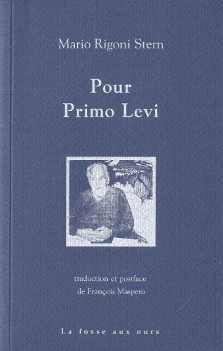 9782357070349: Pour Primo Levi (French Edition)