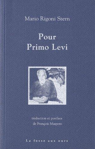 9782357070349: Pour Primo Levi