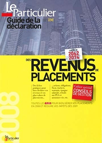 9782357310148: Guide de la déclaration des revenus de placements