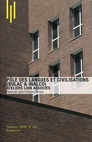 9782357332041: Pôles des langues et civilisations (Bulac & Inalco) : Ateliers Lion Associés