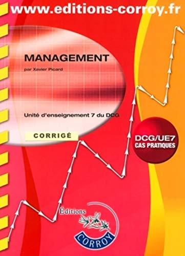 9782357650183: Management UE7 du DCG : Corrigé