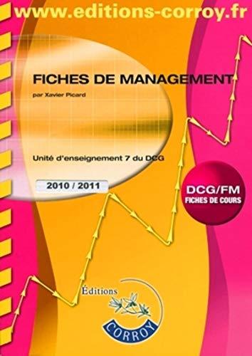 9782357650909: Fiches de management UE 7 du DCG : Fiches de cours