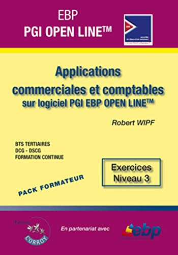 ebp pgi open line pro - pack formateur - applications commerciales et comptables sur pgi ebp open ...