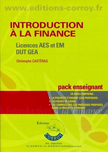 Introduction à la finance Licences AES et EM DUT GEA (French Edition)