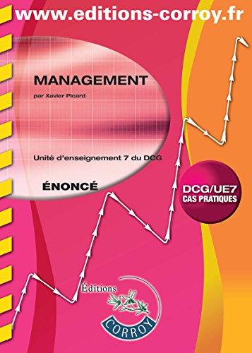 9782357654259: Management UE 7 du DCG : Enoncé