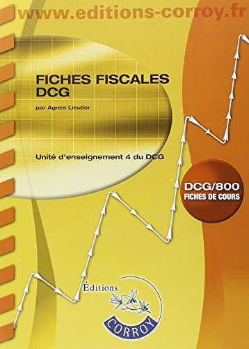 9782357655638: Fiches fiscales UE 4 du DCG