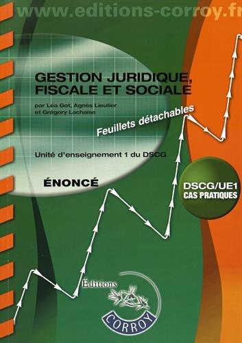 9782357655751: Gestion juridique, fiscale et sociale UE 1 du DSCG : Enonc�