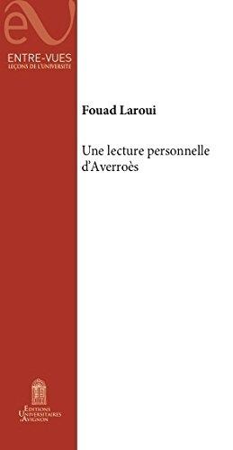 9782357680098: Une Lecture Personnelle d'Averroes
