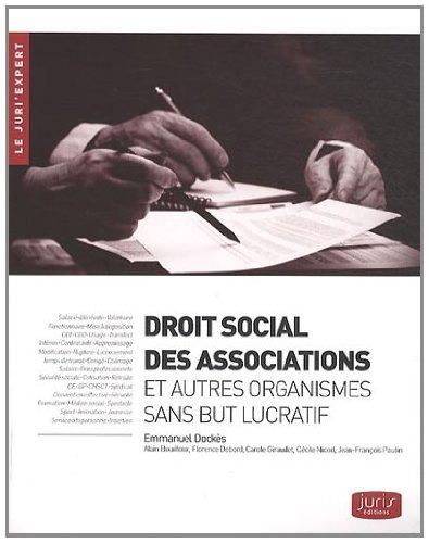9782358000123: Droit social des associations et autres organismes sans but lucratif