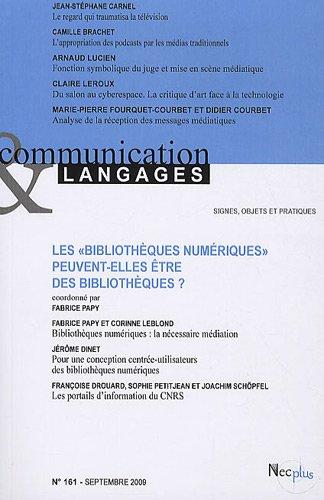 9782358760140: Communication et Langages, N� 161, Septembre 20 : Les